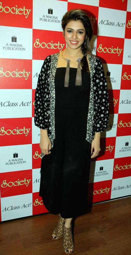 Singer Shalmali Kholgade during the unveiling of Society magazine April issue, in Mumbai on March 31, 2015.