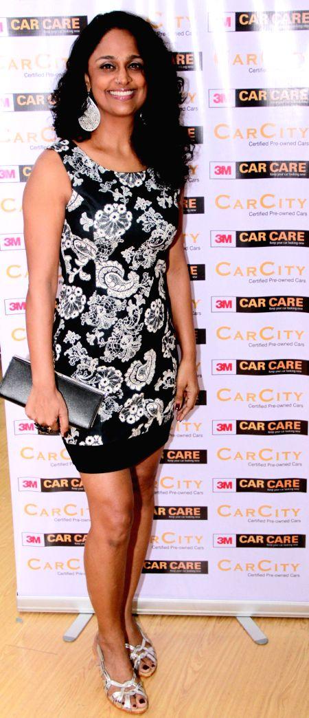 Singer Sunita Rao at launch pre-owned car showroom CarCity in Worli  in Mumbai on Dec 26, 2014. - Sunita Rao