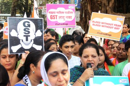 NCP workers demand sanitary napkins to be made tax free