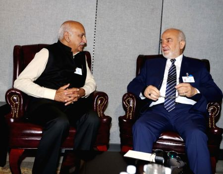 New York: MJ Akbar meeting foreign minister of Iraq Ibrahim al-Eshaiker al-Jaafari