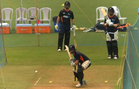 New Zealand practice session - Kane Williamson