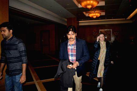 Pawan Kalyan at Boston airport stills
