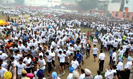 BSF Half Marathon - Navjot Singh Sidhu, Gurjit Singh Aujla