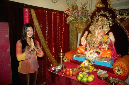 Prasanna Shetty celebrates Ganpati with Nandini Singh and Avesh Dadlani