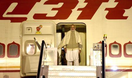 PM Modi arrives in Delhi after attending WEF