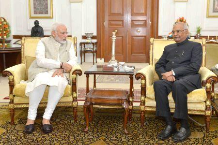 Narendra Modi called on Ram Nath Kovind