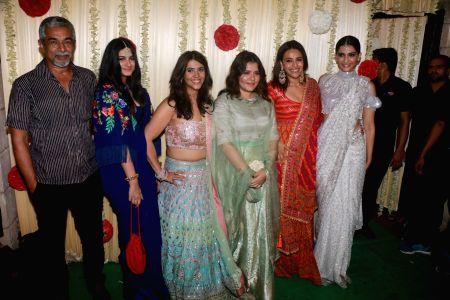 Ekta Kapoor's Pre-Diwali celebration - Rhea Kapoor, Sonam Kapoor and Swara Bhaskar