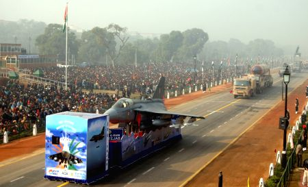 Republic day rehearsal at Rajpath on Saturday New Delhi, 23 Jan 2010.