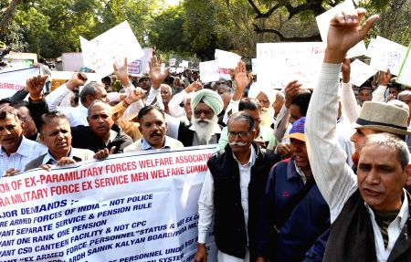 Retired paramilitary veterans to protest for OROP