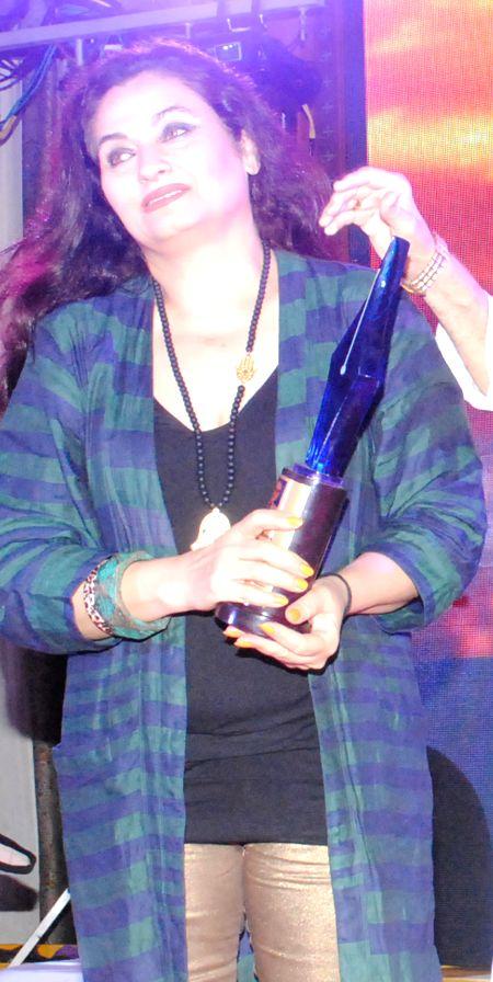 Salma Agha during the 4th Bharat Ratna Dr.Baba Saheb Ambedkar Awards 2014 in Mumbai on June 25th, 2014.
