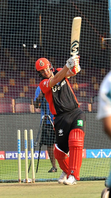 Shane Watson of Royal Challengers Bangalore during a practice session at Chinnaswamy Stadium in Bengaluru on April 26, 2017.