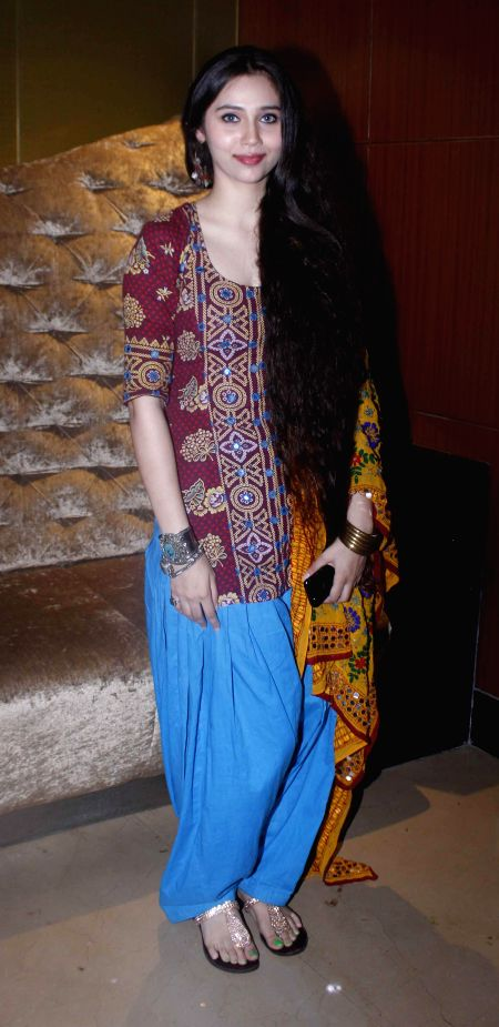 Singer Sasha Agha during a programme organised to launch the trailer of upcoming film `Desi Kattey` in Mumbai on July 4, 2014.