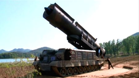 : (220816) N. Korea TV shows missile launch