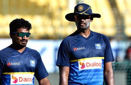 Sri Lanka - practice session - Thisara Perera