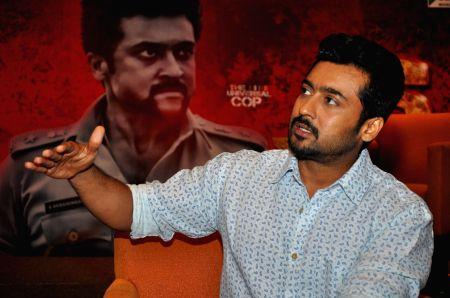 Surya's press meet of his Telugu film S3