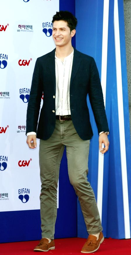 Television personality Alberto Mondi attends the opening ceremony of the Bucheon International Fantastic Film Festival (BIFAN) at Bucheon City Hall in Bucheon, Gyeonggi Province, on July 12, ...