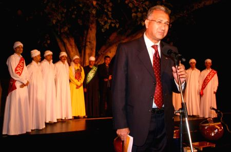 The Egypt Ambassador to India Dr Higazy with with the Egyptian folk troupe