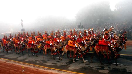 The Republic Day Parade at Rajpath on Teusday at New Delhi.