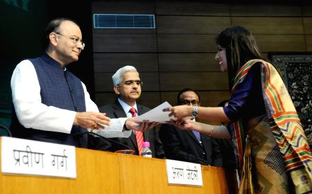 Arun Jaitley at the foundation day function of the Security Printing Minting Corporation of India Limited