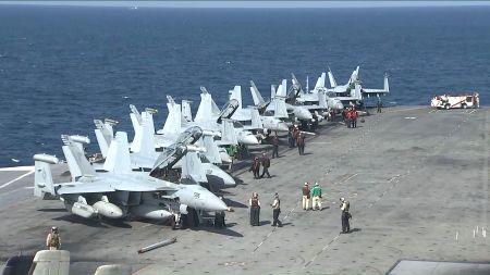 U.S. flattop in East Sea