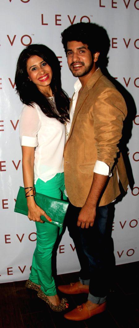 TV Celebs at Ravi Dubey's surprise birthday party for wife Sargun Mehta in Mumbai on September 6th, 2014. - Sargun Mehta