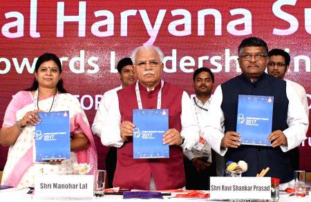 Digital Haryana Summit 2017 - Ravi Shankar Prasad, Manohar Lal Khattar