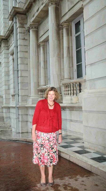 US Ambassador to India Kathleen Stephens during her visit to Victoria Memorial Hall in Kolkata on Aug 13, 2014.
