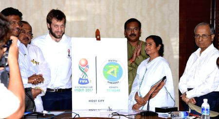 Mamata Banerjee launches the Host City Logo for Kolkata