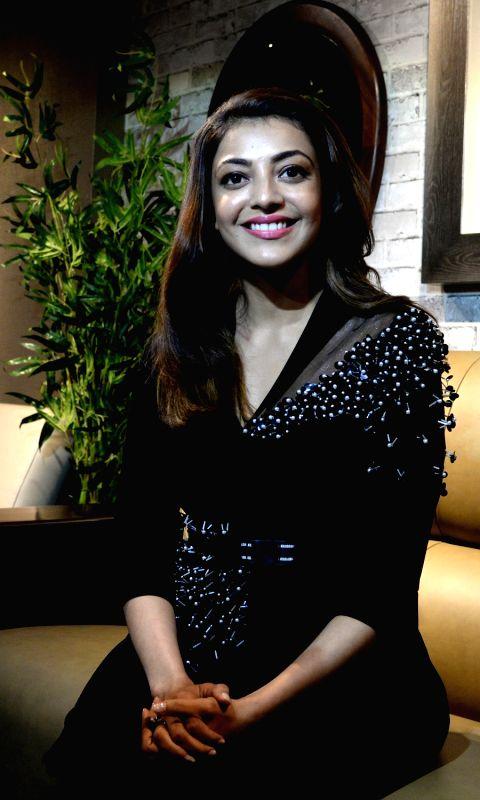 Actress Kajal Aggarwal at the launch Dubai based Bronet Group's global home concept showroom in Bengaluru on Aug 11, 2018.