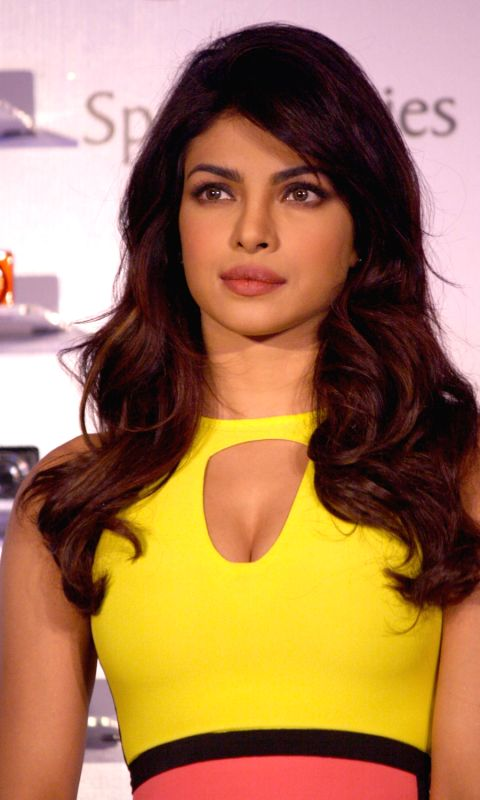 Bollywood actress Priyanka Chopra at the launch of Nikon Collpix Spring Series 2013 in New Delhi, 19 April 2013.
