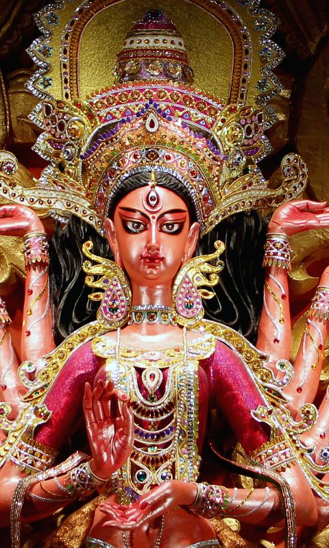 durga-idol-at-babu-bagan-durga-puja-in-kolkata-on