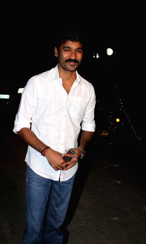 Actor Dhanush during the success party of film Tanu Weds Manu - Returns in Mumbai on May 27, 2015.