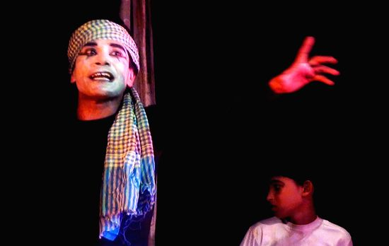 A still from Rabindranath Tagores Dakghar by challenged children at NSDs children theatre festival