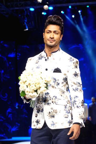 Actor Vidyut Jammwal  the GQ Fashion Nights 2017 in Mumbai on Nov 12, 2017.