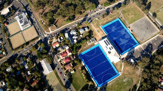 Hockey field in Gold Coast (Credit: Neena Bhandari)