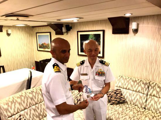 Indian Naval ships  Satpura and Kadmatt are on a visit to Sasebo, Japan