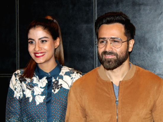 "New Delhi: Actors Shreya Dhanwanthary and Emraan Hashmi at a press conference to promote their upcoming film ""Why Cheat India"" in New Delhi, on Jan 11, 2019. (Photo: Amlan Paliwal/IANS)(Image Source: IANS News)"