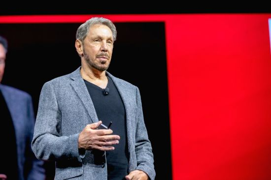 Oracle Co-Founder and Executive Chairman Larry Ellison unveils Oracle's Gen 2 Cloud with autonomous capabilities, improved security and upgrades for enterprises. (Photo: Twitter/@Oracle)(Image Source: IANS News)