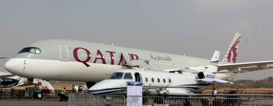 Qatar Airlines. (Image Source: IANS)