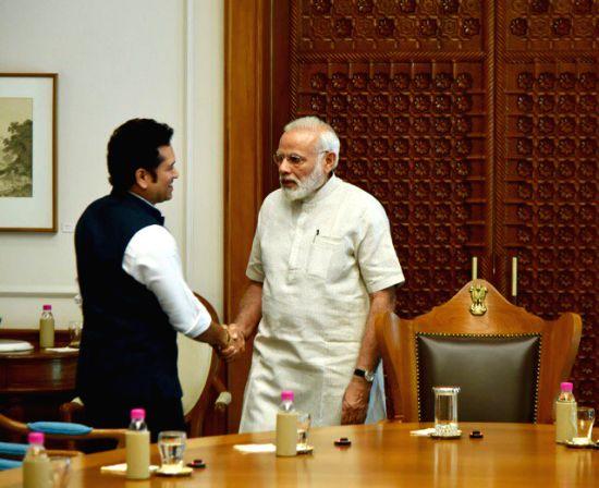 Sachin Tendulkar meets Narendra Modi