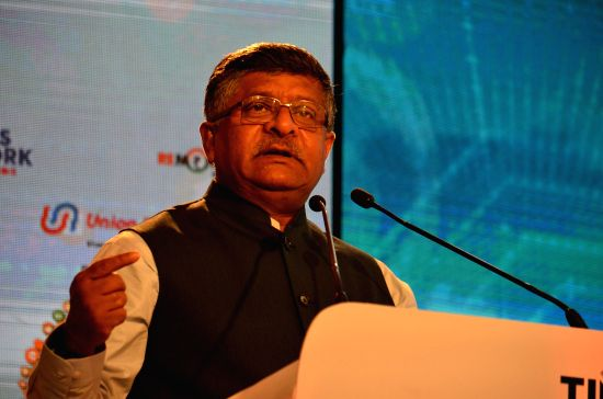 Union Electronics and Information Technology Minister Ravi Shankar Prasad. (Image Source: IANS)