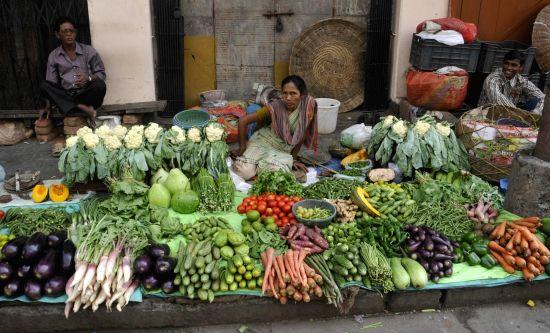 Vegetable market. (Image Source: IANS)