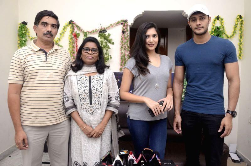 (080816) Hyderabad: Marala Telupana movie success meet