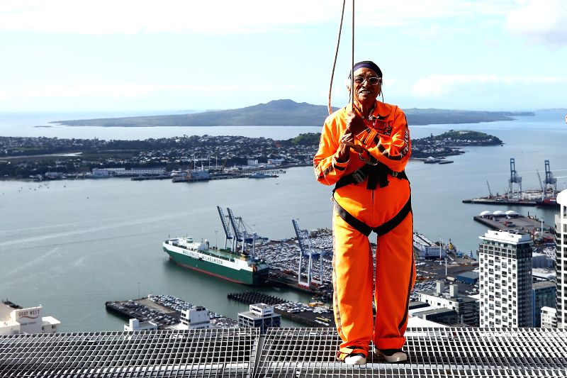 101-year-old Mann Kaur\'s world record breaking Auckland sky walk - Kaur