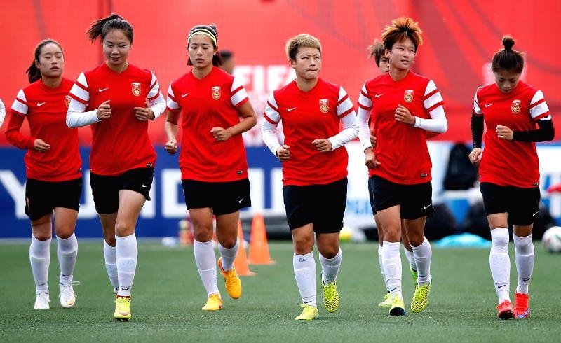 CANADA-EDMONTON-FIFA WOMEN'S WORLD CUP-CHINA-TRAINING