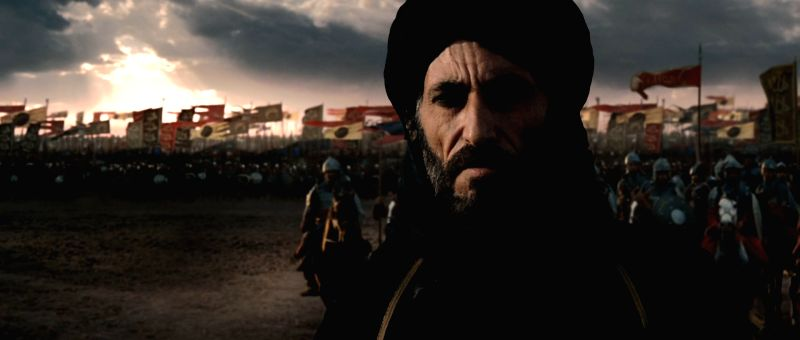 "12th century Islamic soldier-statesman Saladin as portrayed by Syrian actor Ghassan Massoud in 2005 Hollywood film ""The Kingdom of Heaven"" - Ghassan Massoud"