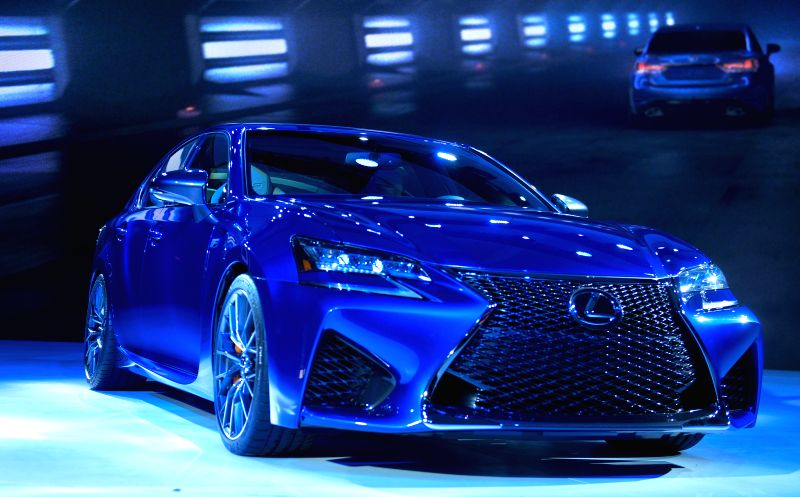 Lexus unveils its 2016 GS F during a press preview of the 2015 North American International Auto Show (NAIAS) in Detroit, the United States, Jan. 13, ...