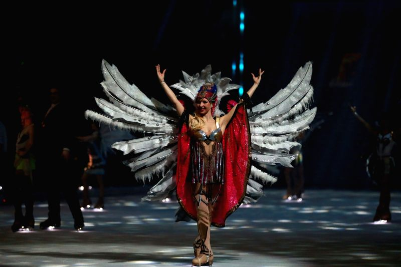 Annette Dytrt performs during the Passion ice show by Holiday on Ice in Festhalle in Frankfurt, German, on Jan. 13, 2015. ..