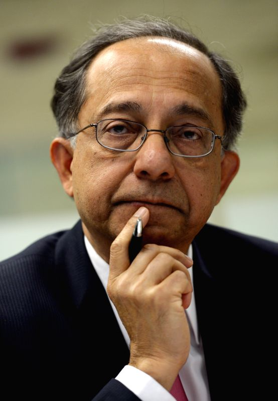 Kaushik Basu, World Bank chief economist and senior vice president, speaks to the press at the World Bank headquaters in Washington D.C., the ... - Kaushik Basu