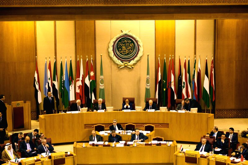 An emergency meeting is held by foreign ministers of the Arab League in Cairo, Egypt, Jan. 15, 2015. Arab foreign ministers met on Thursday in Egypt's ...